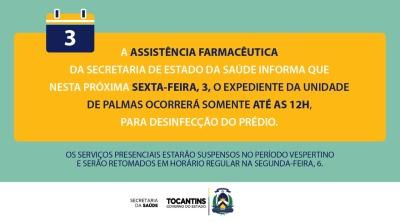 Com expediente reduzido para desinfecção, os serviços presenciais ficam suspensos a partir das 12h desta sexta e são retomados na segunda