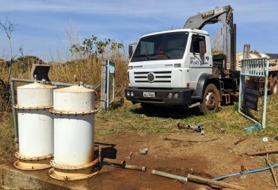Equipes da ATS instalaram um novo e mais moderno sistema de tratamento de água