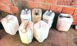 Galões de combustível apreendidos pela Polícia Civil em Luzimangues