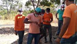 Brigadistas de São Félix recebem instruções sobre reparos de equipamentos