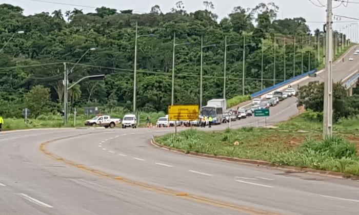 Ação irá interditar o trânsito junto à ponte Ribeirão Taquaruçu Grande