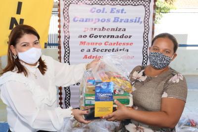 A titular da Seduc, Adriana Aguiar destacou a preocupação do Governo do Tocantins com todos os estudantes. Marcio Vieira/Governo do Tocantins