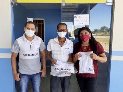 Recebimento da sala de Fiscalização no terminal rodoviário de Dianópolis e entrega de uniformes para os fiscais
