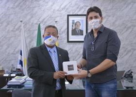 Secretário Tom Lyra com o fundador da La Paglia Wilian