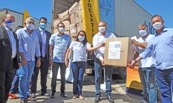 Estado recebeu 450 mil unidades de Equipamentos de Proteção Individual (EPIs) da empresa JBS - Aldemar Ribeiro/Governo do Tocantins