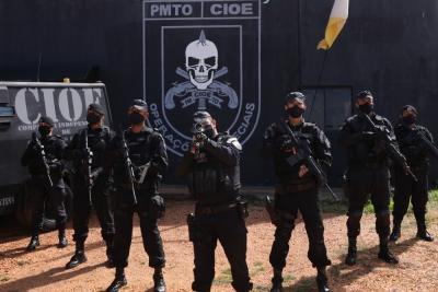 """A """"Faca na Caveira"""" é o símbolo da tropa de Comandos do Brasil, é utilizada para caracterizar a Companhia Independente de Operações Especiais do Tocantins (CIOE)."""