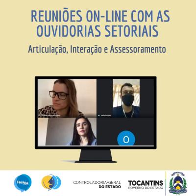 CGE Tocantins realiza reuniões com ouvidorias setoriais do Poder Executivo Estadual