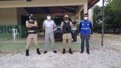 A operação conta com o apoio da Polícia Militar (PMTO)