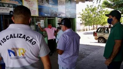 Fiscalização do sistema de bilhetagem eletrônica no Terminal Rodoviário do município de Araguatins em parceria com a Secretaria da Fazenda e Planejamento (Sefaz)