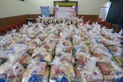 Assim como ocorreu na primeira etapa, serão entregues 157.659 kits de alimentos