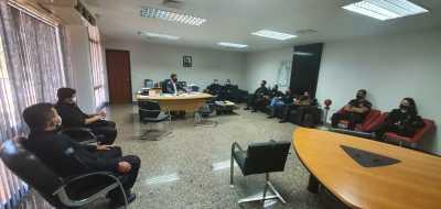 O secretário da Seciju, Heber Fidelis, recebeu o grupo de trabalho em gabinete na manhã desta sexta-feira, 24