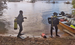 Mergulhadores se preparam para buscas no Lago, em Porto Nacional