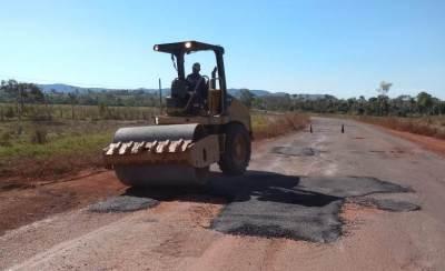 A manutenção tem o objetivo de melhorar as condições de tráfego na malha rodoviária estadual