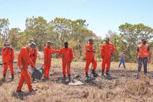 Aulas práticas ocorreram na manhã desta quinta-feira, com combate de verdade nas proximidades do Parque Césamar