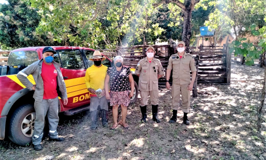 Presença do Corpo de Bombeiros Militar em São Félix ajuda na prevenção e combate a incêndios florestais no Parque Estadual do Jalapão