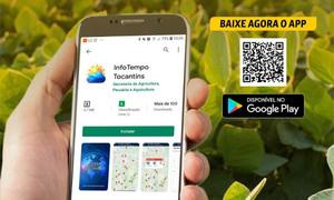 Governo disponibiliza um aplicativo, InfoTempo Tocantins, que contém informações meteorológicas e agroclimáticas do Estado