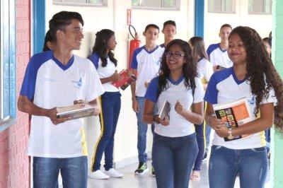 Estudantes da rede estadual de Educação