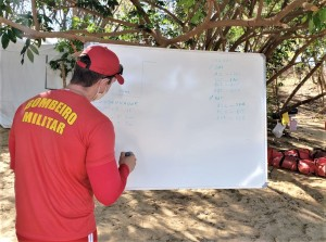 A ação permitiu a mergulhadores uma atualização nas questões relacionadas a resgate