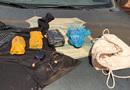 Pacotes que estavam sendo portados pelos suspeitos