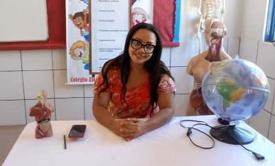 A gestora da unidade de ensino, Marizete Cardoso, destacou a proposta do projeto