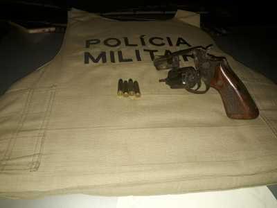 Arma de fogo apreendida em Aliança do Tocantins
