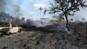 Veículos atingidos estavam estacionamento do PRF em Araguaína
