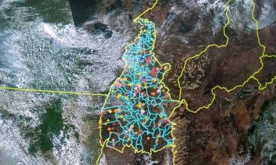 Painéis de monitoramento das imagens espaciais no Cimdea