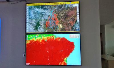 Panorama de imagem espacial analisada no Cimdea