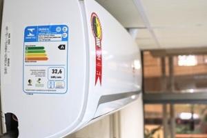 O principal item de ensaio é a eficiência energética para a refrigeração do ar