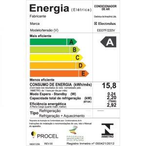 O Selo de Eficiência Energética é uma etiqueta composta por uma tabela de letras e cores que mede o quão eficiente é o uso de energia do equipamento