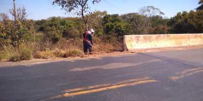 Pontes recebem manutenção das equipes da Ageto, na região sudeste do Estado.