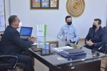 Secretário com os executivos do Sicredi em reunião no gabinete