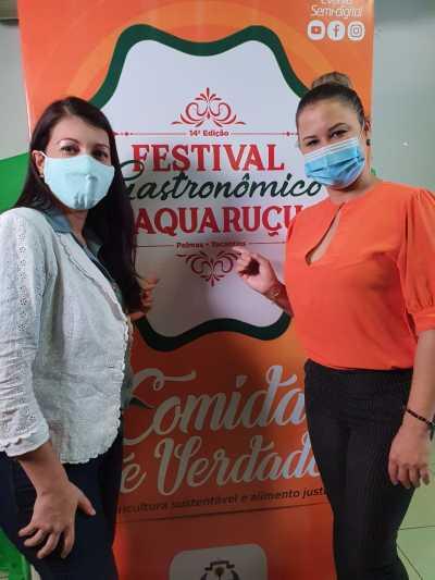Engenheira de Alimentos Verônica França - Seagro e Malena Mota - Presidente do Festival Gastronômico.