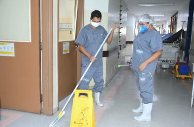 HGP intensifica ações de higienização para fortalecer o combate ao Coronavírus.