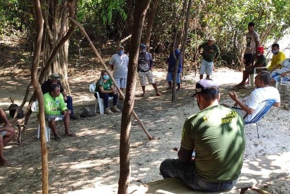 Reunião com representantes da Colônia de Pescadores de Araguacema