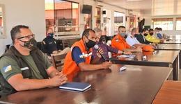 O tenente-coronel Alves na reunião do EB em que destacou a participação do órgão nas ações