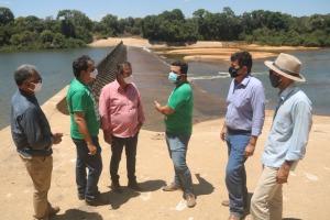 Visita na área de elevação do Rio Formoso