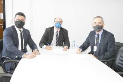 Acordo de Cooperação entre a SSP, Seciju e PF foi assinado na tarde desta segunda-feira, 14, na sede da SSP-TO