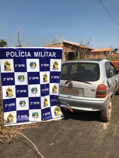 PM recupera veículo produto de roubo em Araguaína.