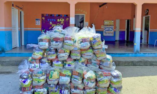 Mais de 330 mil cestas foram entregues desde março pelo Governo do Tocantins