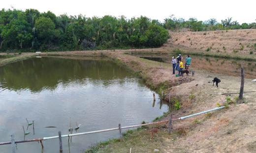 Visita à chácara Nova Vida, do produtor Alcir Cesar Dotoli, que desenvolve a atividade de piscicultura