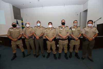Comandante do Policiamento da Capital com os Comandantes das Unidades de Polícia Militar do CPC