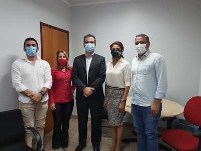 Visita técnica realizada pelo presidente Cláudio Alex ao Ministério Público