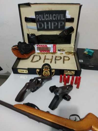 Em Gurupi, Polícia Civil apreende armas e munições em posse de suspeito de homicídio