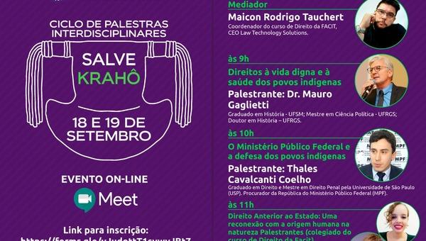 Corregedor adjunto da Segurança Pública do Tocantins participa do Ciclo de Palestras Interdisciplinares Salve Krahô