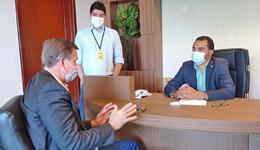 Wanderlei Barbosa conversou com o superintendente do Banco da Amazônia, Marivaldo Melo, sobre a prorrogação do Decreto que declara estado de calamidade pública em todo o território do Estado