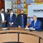 Governador Mauro Carlesse, ministro Onyx Lorenzoni e vice-governador Wanderlei Barbosa destacaram benefícios do programa para o Tocantins