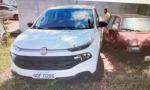 Uma das caminhonetes furtadas e recuperadas pela Polícia Civil