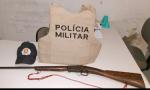 Arma de fogo apreendida pela Polícia Militar em Sandolândia