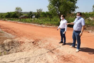 O presidente e o diretor de Produção da ATS vistoriam pessoalmente as obras executadas em São Félix